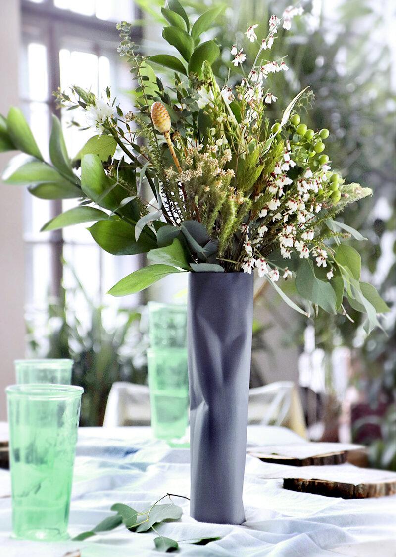 wazon pogięty niski